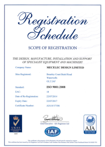 Mecelec Design Iso 9001 2008 Registration