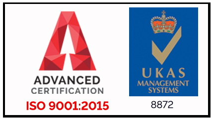 AJA iso 9001:2008 and UKAS Management Systems logos